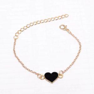 Jewelry - 🔥2 for $15🔥 BLACK HEART Gold Chain Bracelet